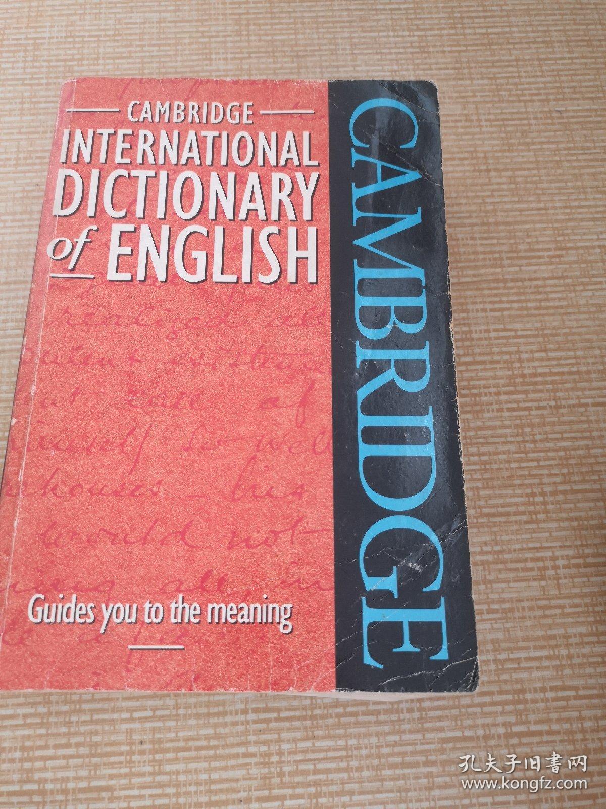 剑桥国际英语词典  英文版