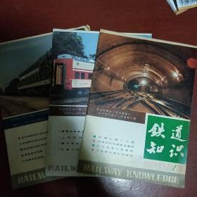 《铁道知识》1988年 第1.2.3.期 三册合售 中国铁道学会铁道知识编辑部 稀见刊物 私藏 书品如图