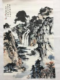 老旧画晏济元山水一幅尺寸75×48