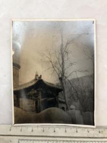 民国时期凉亭建筑风景原版老照片
