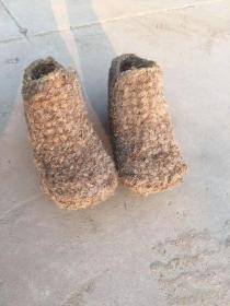 下乡收到 老草鞋一双 完整 正常使用,民俗博物馆陈列佳品