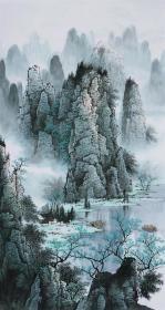 桂林山水画!竖幅,无提款!