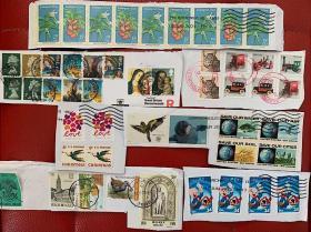 美国英国比利时邮票