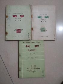 全日制十年制学校初中课本 数学第二册,数学第三册 代表第一册