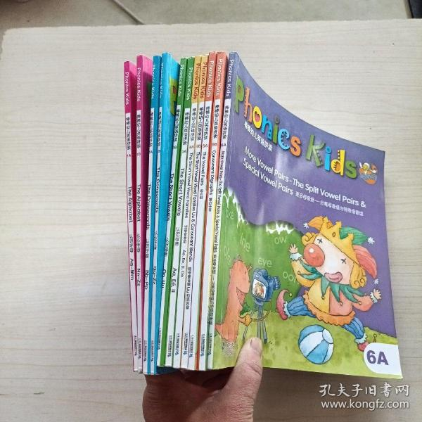 Phonics kids 点读系列:棒棒幼儿英语拼读 1-6(A/B)全套12册,缺6B,11本合售(附4张光盘)