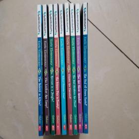 怪诞小学9册合售 Eerie Elementary 英文原版 Scholastic Branches 学乐大树系列 儿童桥梁章节书 英语学习书籍课外阅读读物,9本合售