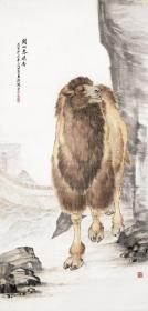 动物画 刘奎龄-关山春晓图。纸本大小66*137厘米。宣纸艺术微喷复制。