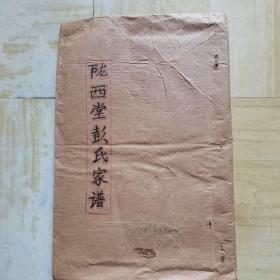 陇西堂彭氏家谱:(手抄本)