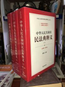 中华人民共和国民法典释义(上中下) 全新未拆封