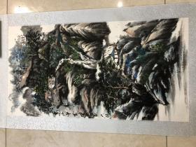 画家 佘德林  山水画一副25