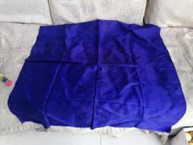 民国丝绸织品,蓝色绸缎,72+70cm。可做古籍大函套两个