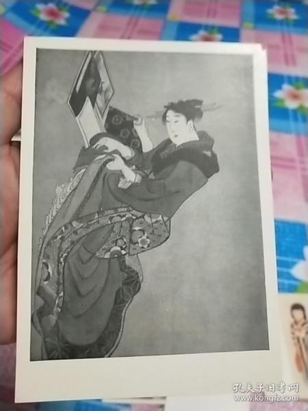 五十年代苏联日本绘画明信片:浮世绘