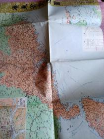 旅游图 地图广东省交通图1984