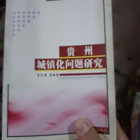 贵州城镇化问题研究