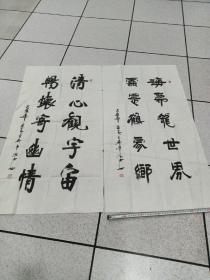张滨书法作品(2011年书法报社参赛作品二幅)
