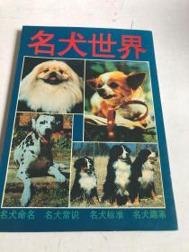 名犬世界1993年一版一印,世界各地区有代表性、有价值的犬154种,侧重于对其历史、演变、现状,以及标准、特征……等逐一介绍说明。