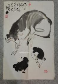 四川著名画家 谭昌镕70年代国画 画心软片原稿真迹 永久保真