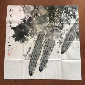 玉人指画【70厘米x69厘米】