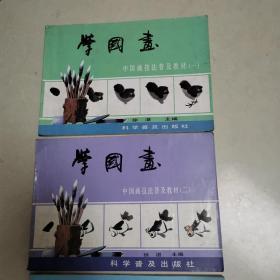 中国画技法普及教材·学国画:花鸟集一和二、山水集三,共3本合售
