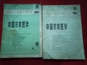 中国农村医学(1985年第五,六期)