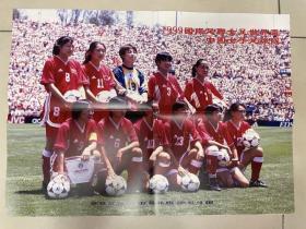 足球海报 1999女足世界杯亚军 中国女足/孙雯
