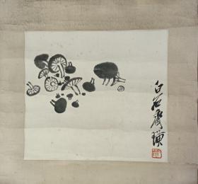 小蘑菇国画作品