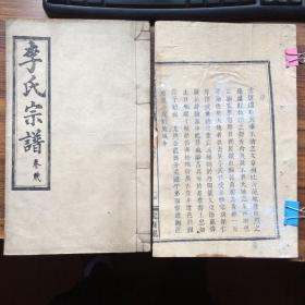 湘西苗族 李氏宗谱(900年第一次修)