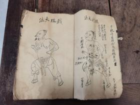 少林玄机和尚秘传武术书一厚册图多