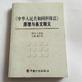 《中华人民共和国担保法》原理与条文释义