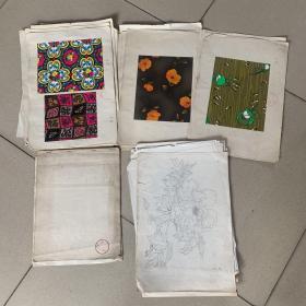 潍坊围巾厂(设计图纸材料)一宗(约五六十张)
