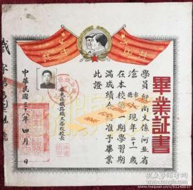 1949年新政府最早的铁路职工学校 华东区铁路职工学校 毕业证书 也见证了共和国七十周年巨大的变化