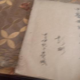 中医妇科学笔记,手写本