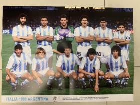 足球海报 1990世界杯阿根廷队/马拉多纳.