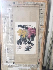苏葆桢 1986作品 原装原表  国画一幅 保真
