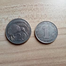外国钱币 新西兰1986年硬币(面值20)(YB5)