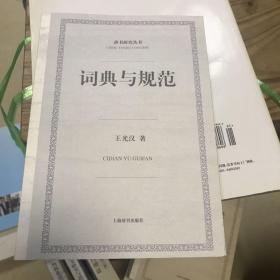 辞书研究丛书:词典与规范