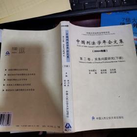 中国刑法学年会文集·第2卷(2004年度·下册)