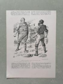 100年前 欧美 杂志 期刊 老版画 插图 散页 K