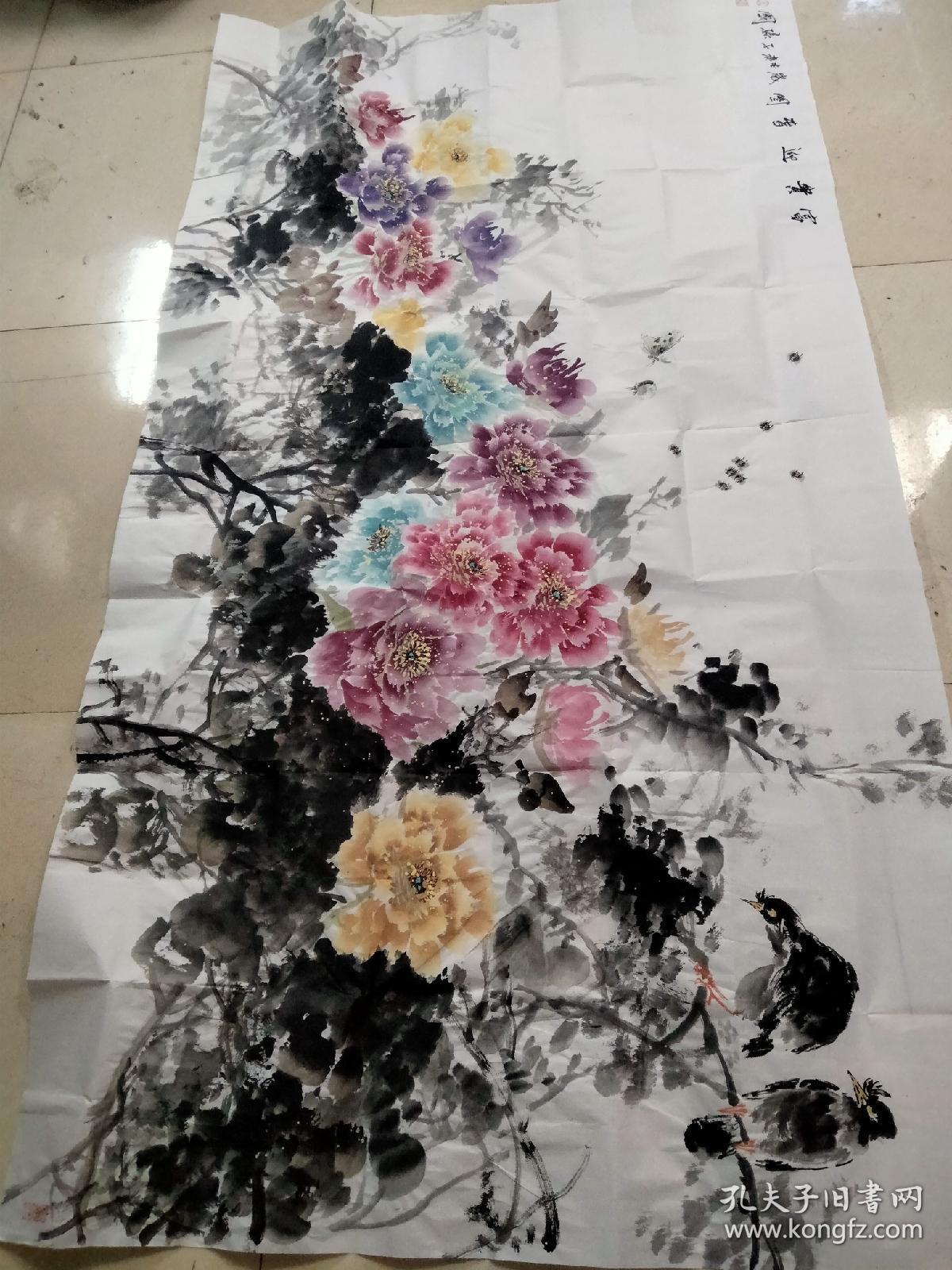 山东省美协会员孙国老师六尺整张作品