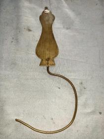 清代民俗铜门帘钩子。