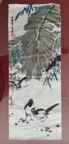 国画:喜鹊芭蕉