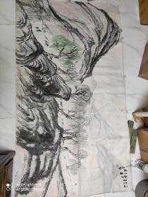 著名画家 赵望云 1961年老国画。。软片170厘米98厘米。。