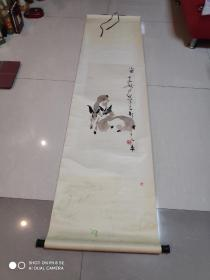 著名四川画家 秦天柱 国画 终身保真 长72宽33