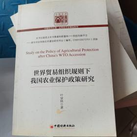 世界贸易组织规则下我国农业保护政策研究