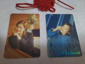 郑秀文明星卡片(2张合售)