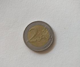 欧元硬币,2010年 2欧元,euro,德国版。