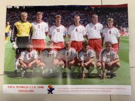 足球海报- 1998世界杯杯丹麦队/小劳德鲁普