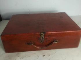 民清朱漆老木盒木箱