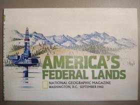 National Geographic国家地理杂志地图系列之1982年9月 America's Federal Lands  美联邦地图