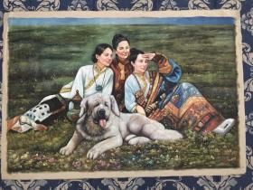 陈丹青手绘民俗风情油画